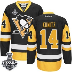 Chris Kunitz Pittsburgh Penguins Reebok Authentic Third 2016 Stanley Cup Final Bound NHL Jersey (Black/Gold)
