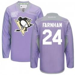 Bobby Farnham Pittsburgh Penguins Reebok Premier 2016 Hockey Fights Cancer Practice Jersey (Purple)
