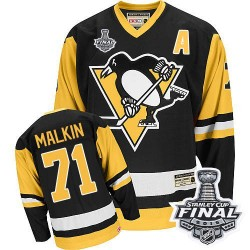 Evgeni Malkin Pittsburgh Penguins CCM Authentic Throwback 2016 Stanley Cup Final Bound NHL Jersey (Black)