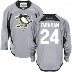 Bobby Farnham Pittsburgh Penguins Reebok Premier Gray Practice Team Jersey ()