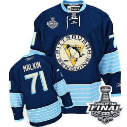 Evgeni Malkin Pittsburgh Penguins Reebok Youth Authentic Third Vintage 2016 Stanley Cup Final Bound NHL Jersey (Navy Blue)