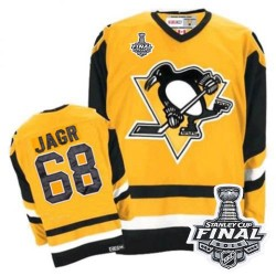Jaromir Jagr Pittsburgh Penguins CCM Authentic Throwback 2016 Stanley Cup Final Bound NHL Jersey (Yellow)