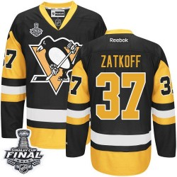 Jeff Zatkoff Pittsburgh Penguins Reebok Authentic Third 2016 Stanley Cup Final Bound NHL Jersey (Black/Gold)