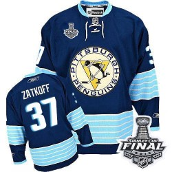 Jeff Zatkoff Pittsburgh Penguins Reebok Authentic Third Vintage 2016 Stanley Cup Final Bound NHL Jersey (Navy Blue)