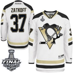 Jeff Zatkoff Pittsburgh Penguins Reebok Authentic 2014 Stadium Series 2016 Stanley Cup Final Bound NHL Jersey (White)