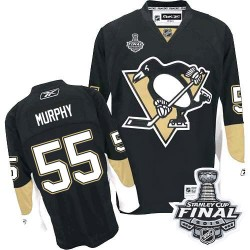 Larry Murphy Pittsburgh Penguins Reebok Authentic Home 2016 Stanley Cup Final Bound NHL Jersey (Black)