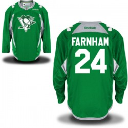 Bobby Farnham Pittsburgh Penguins Reebok Authentic St. Patrick's Day Replica Practice Jersey (Green)