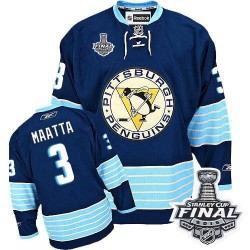 Olli Maatta Pittsburgh Penguins Reebok Premier Third Vintage 2016 Stanley Cup Final Bound NHL Jersey (Navy Blue)