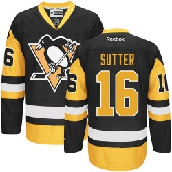 Brandon Sutter Pittsburgh Penguins Reebok Authentic Black/ Third Jersey (Gold)