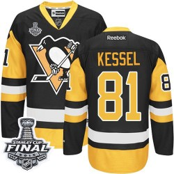 Phil Kessel Pittsburgh Penguins Reebok Authentic Third 2016 Stanley Cup Final Bound NHL Jersey (Black/Gold)