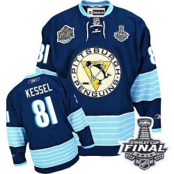 Phil Kessel Pittsburgh Penguins Reebok Authentic Third Vintage 2016 Stanley Cup Final Bound NHL Jersey (Navy Blue)