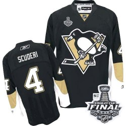 Rob Scuderi Pittsburgh Penguins Reebok Authentic Home 2016 Stanley Cup Final Bound NHL Jersey (Black)