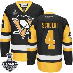 Rob Scuderi Pittsburgh Penguins Reebok Authentic Third 2016 Stanley Cup Final Bound NHL Jersey (Black/Gold)