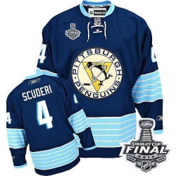 Rob Scuderi Pittsburgh Penguins Reebok Authentic Third Vintage 2016 Stanley Cup Final Bound NHL Jersey (Navy Blue)