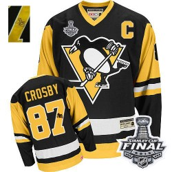 Sidney Crosby Pittsburgh Penguins CCM Authentic Throwback Autographed 2016 Stanley Cup Final Bound NHL Jersey (Black)