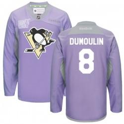 Brian Dumoulin Pittsburgh Penguins Reebok Premier 2016 Hockey Fights Cancer Practice Jersey (Purple)