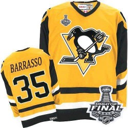 Tom Barrasso Pittsburgh Penguins CCM Authentic Throwback 2016 Stanley Cup Final Bound NHL Jersey (Yellow)