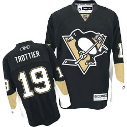 Bryan Trottier Pittsburgh Penguins Reebok Authentic Home Jersey (Black)