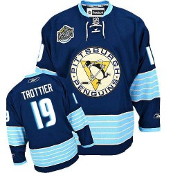 Bryan Trottier Pittsburgh Penguins Reebok Authentic Vintage New Third Jersey (Navy Blue)