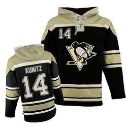 Chris Kunitz Pittsburgh Penguins Authentic Old Time Hockey Sawyer Hooded Sweatshirt Jersey (Black)