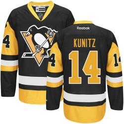 Chris Kunitz Pittsburgh Penguins Reebok Authentic Black/ Third Jersey (Gold)