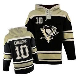 Christian Ehrhoff Pittsburgh Penguins Premier Old Time Hockey Sawyer Hooded Sweatshirt Jersey (Black)