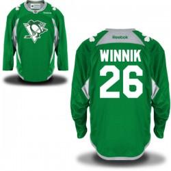 Daniel Winnik Pittsburgh Penguins Reebok Authentic St. Patrick's Day Replica Practice Jersey (Green)