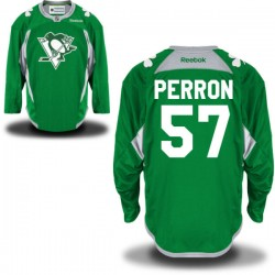 David Perron Pittsburgh Penguins Reebok Premier St. Patrick's Day Replica Practice Jersey (Green)