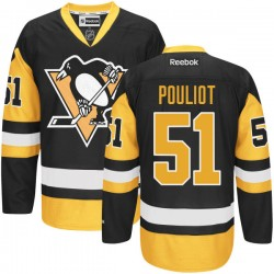 Derrick Pouliot Pittsburgh Penguins Reebok Premier Alternate Jersey (Black)