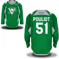Derrick Pouliot Pittsburgh Penguins Reebok Authentic St. Patrick's Day Replica Practice Jersey (Green)