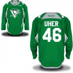 Dominik Uher Pittsburgh Penguins Reebok Premier St. Patrick's Day Replica Practice Jersey (Green)