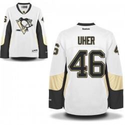 Dominik Uher Pittsburgh Penguins Reebok Women's Premier Away Jersey (White)