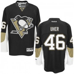 Dominik Uher Pittsburgh Penguins Reebok Authentic Home Jersey (Black)