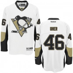 Dominik Uher Pittsburgh Penguins Reebok Authentic Away Jersey (White)