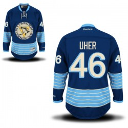 Dominik Uher Pittsburgh Penguins Reebok Authentic Alternate Jersey (Royal Blue)