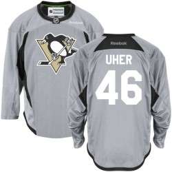Dominik Uher Pittsburgh Penguins Reebok Authentic Gray Practice Team Jersey ()