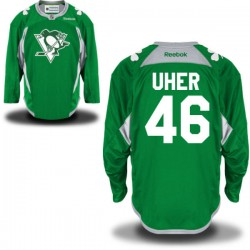 Dominik Uher Pittsburgh Penguins Reebok Authentic St. Patrick's Day Replica Practice Jersey (Green)