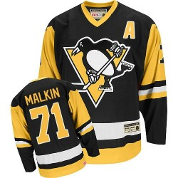 Evgeni Malkin Pittsburgh Penguins CCM Authentic Throwback Jersey (Black)