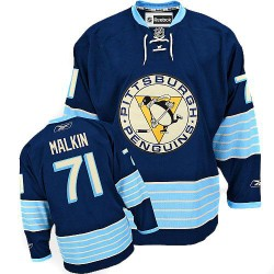 Evgeni Malkin Pittsburgh Penguins Reebok Youth Authentic Vintage New Third Jersey (Navy Blue)