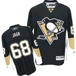 Jaromir Jagr Pittsburgh Penguins Reebok Authentic Home Jersey (Black)
