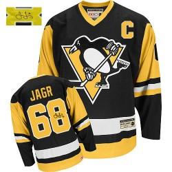 Jaromir Jagr Pittsburgh Penguins CCM Authentic Autographed Throwback Jersey (Black)