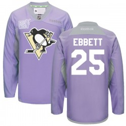 Andrew Ebbett Pittsburgh Penguins Reebok Authentic 2016 Hockey Fights Cancer Practice Jersey (Purple)