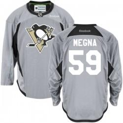 Jayson Megna Pittsburgh Penguins Reebok Authentic Gray Practice Team Jersey ()