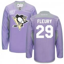 Marc-andre Fleury Pittsburgh Penguins Reebok Premier 2016 Hockey Fights Cancer Practice Jersey (Purple)