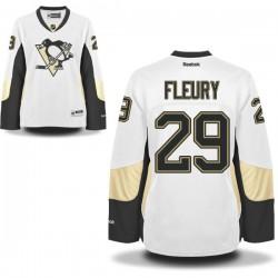 Marc-andre Fleury Pittsburgh Penguins Reebok Women's Premier Away Jersey (White)