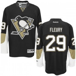 Marc-andre Fleury Pittsburgh Penguins Reebok Authentic Home Jersey (Black)