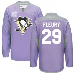 Marc-andre Fleury Pittsburgh Penguins Reebok Authentic 2016 Hockey Fights Cancer Practice Jersey (Purple)