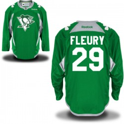 Marc-andre Fleury Pittsburgh Penguins Reebok Authentic St. Patrick's Day Replica Practice Jersey (Green)