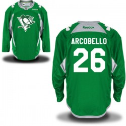 Mark Arcobello Pittsburgh Penguins Reebok Authentic St. Patrick's Day Replica Practice Jersey (Green)