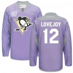 Ben Lovejoy Pittsburgh Penguins Reebok Premier 2016 Hockey Fights Cancer Practice Jersey (Purple)
